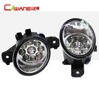 Cawanerl Car Styling LED Light Left + Right Fog Light For Nissan Platina Presage Almera Bluebird Sylphy Fuga Dualis Grand Livina