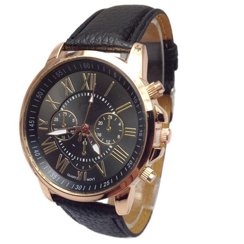 Novel design New Luxury Fashion Faux Leather Men Blue Ray Glass Quartz Analog font b Watches