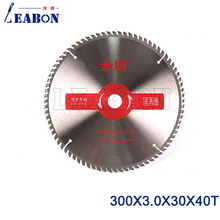 300mm diameter x 30mm center hole 40 teeth TCT wood saw disc cutting blade for log
