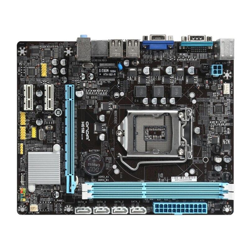 Onda H61M carte mère LGA 1155 DDR3 mémoire 8 GB SATA2.0 VGA carte mère Intel H61 8G processeur ddr3 carte mère pour bureau maison