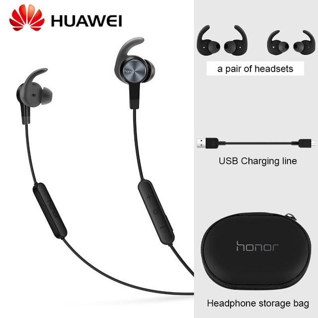 Huawei auriculares Honor xsport AM61, inalámbricos por Bluetooth con micrófono, altavoz de Control de volumen, auriculares internos para iOS y Android