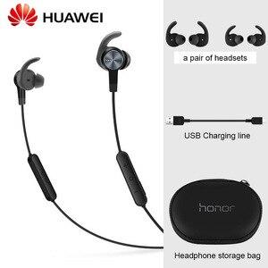 Image 1 - Originele Huawei Honor xsport AM61 Oortelefoon Bluetooth draadloze met Mic Volumeregeling Luidspreker In Ear headset voor iOS Android