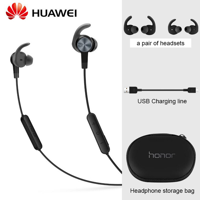 Originele Huawei Honor xsport AM61 Oortelefoon Bluetooth draadloze met Mic Volumeregeling Luidspreker In Ear headset voor iOS Android