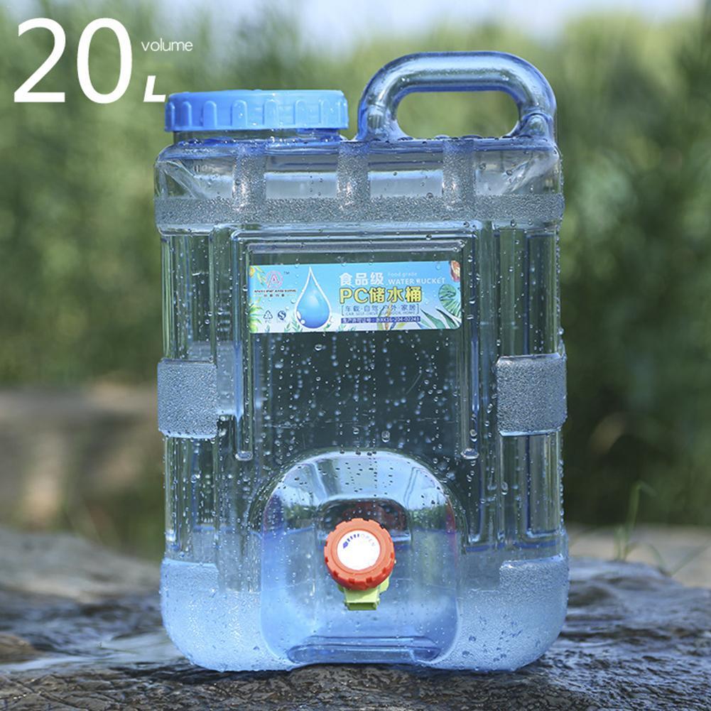 15L 20L ポータブル屋外の大型容量水容器の水タンクバケツキャンプピクニック駆動と蛇口