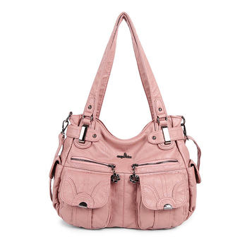 High Quality Luxury brand Designer Women Durable Casual Hobos Tote Handbag Washed PU Leather Shoulder Sac a Main for Ladies