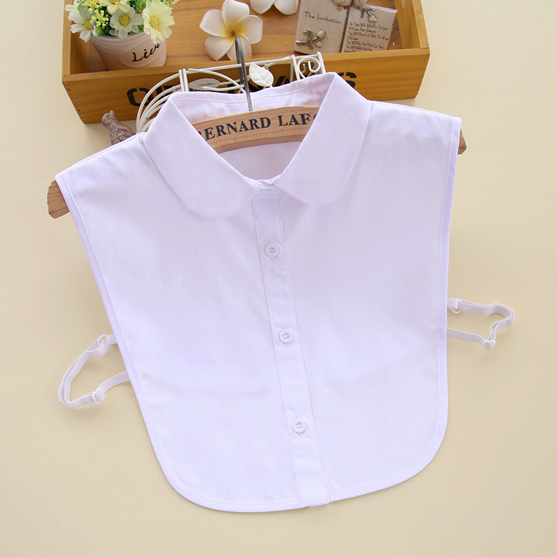 Badinka 2019 New White Black Peter Pan Fake False Collar Detachable Female Cute Collared Shirts For Women Neckwear Decoration
