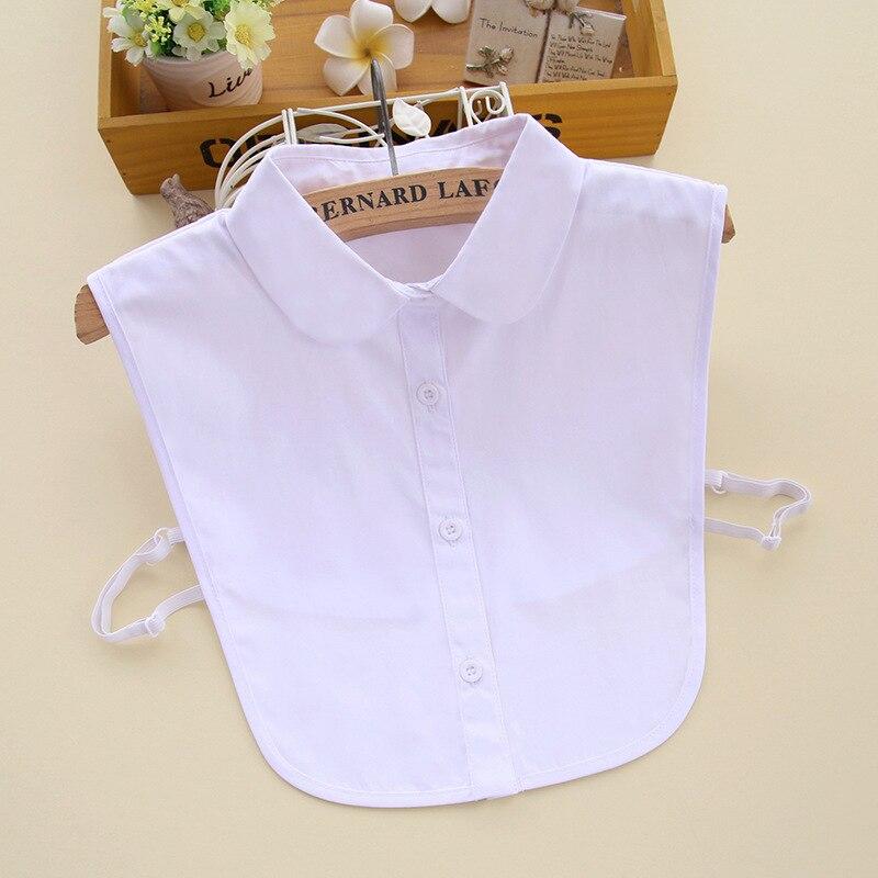 Badinka 2020 New White Black Peter Pan Fake False Collar Detachable Female Cute Collared Shirts For Women Neckwear Decoration