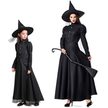 New Halloween Costumes Adult Children COS Witch Suit Black Plays Parent-child Clothing 272