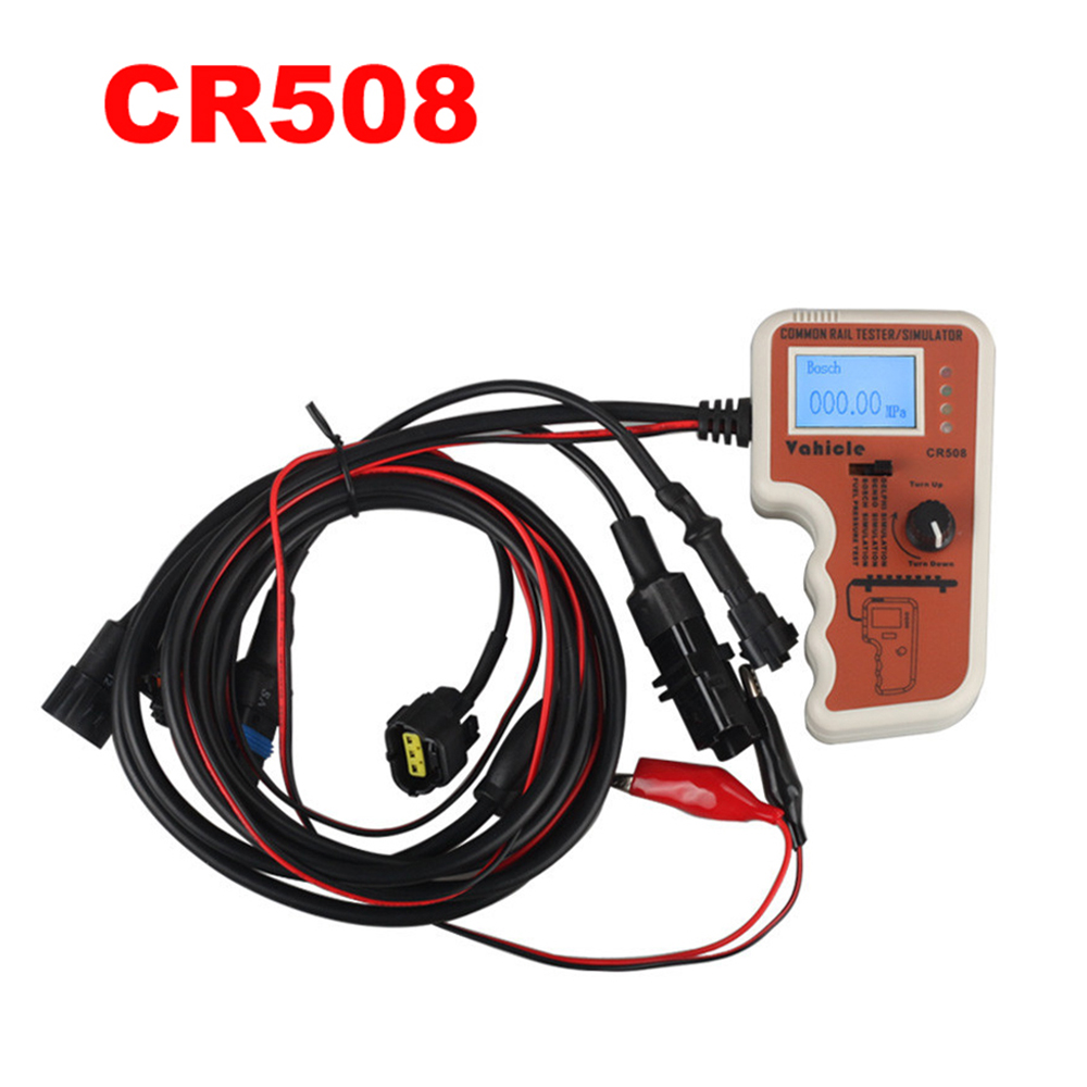 CR508 Common Rail Pressure Tester and Simulator by Rail Pressure Tester for BO-SCH for Den-so Free Shipping cr508 lcd display 0 01mpa 0 200mpa diesel engine common rail pressure sensors tester simulator tools for denso bosch delphi