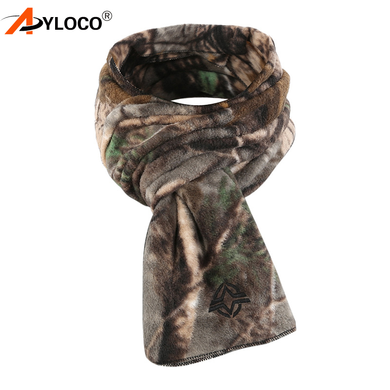 Tactical Fleece Camo Scarf Hunting Shooting Neck Warmer Gaiter Thermal Scarves
