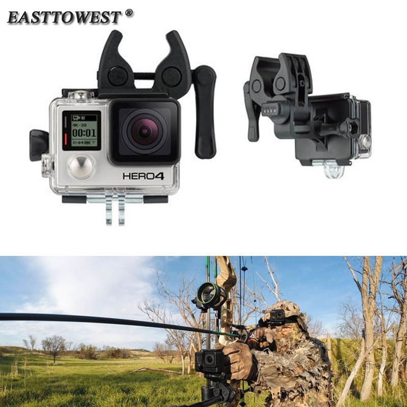 Easttowest Go Pro Accessories Sportsman Mount Fishing Gun Bow Rod Retaining Clip Kit for Go Pro Hero 4 3 3+