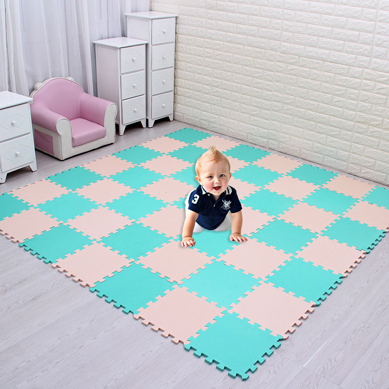 Противоскользящий коврик для защиты от шума для дома, мягкая напольная плитка, EVA, детский Поролоновый безопасный гимнастический коврик-паз...