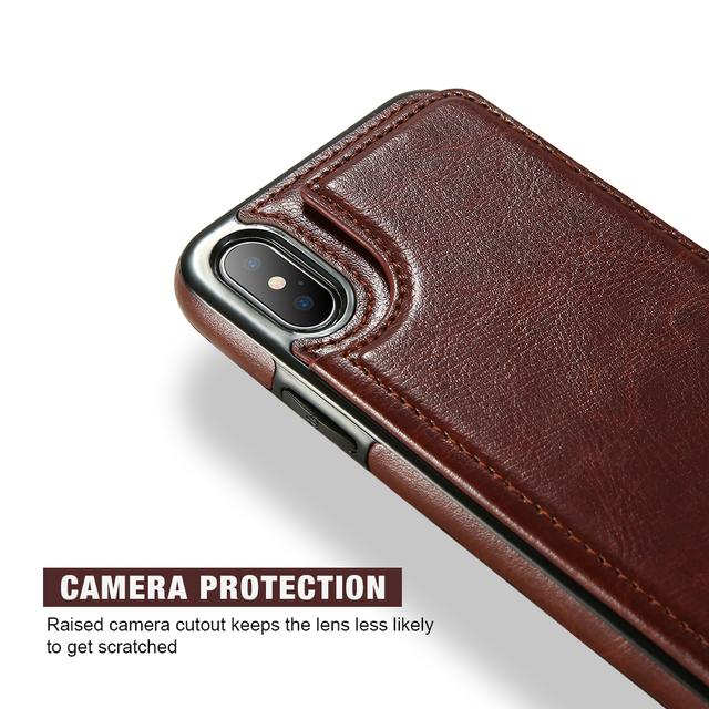 Retro PU Leather Card Slot Holder Case