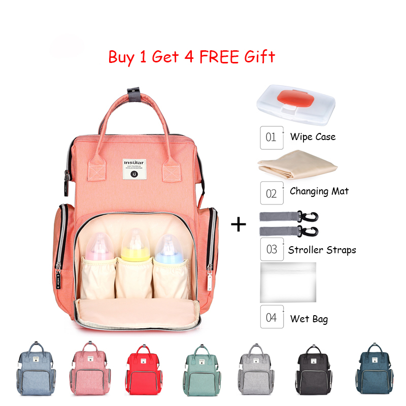 Mummy Maternity Baby Diaper Bag Backpack Large Capacity Waterproof Nappy Bag For Mom Organize Changing Nursing Bag For Stroller