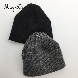MagiDeal 1/6 Scale Knit Mens Black Knitted Cap Hat for 12 Inch Action Figure Body Model Dolls Stage Display Daily Wear Party Acc(China)