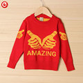 3-7Y Todder Children Girls Cardigan Amazing Printed Knitted Crochet Sweater For Kids Boys Long Sleeve Outwear Baby Clothes