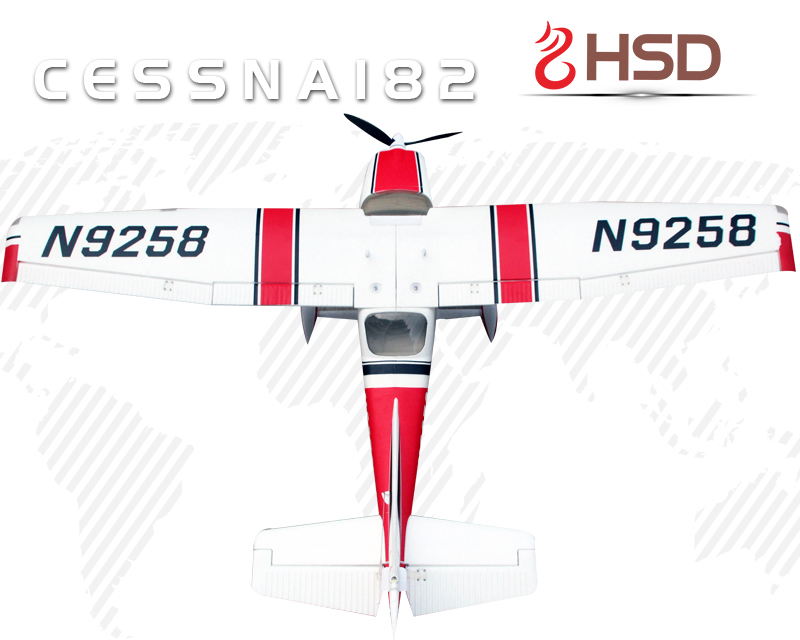 HSD EPO 182 Cessna V3 RC KIT Propeller Plane Model W/O Motor Servo ESC Battery free shipping rc airplane cessna 182 810mm small cessna remote control air plane model epo hobby airplanes frame kit aeromodel