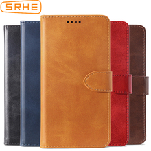 SRHE Flip Cover For Cubot X19 Case Leather Luxury With Magnetic Wallet X 19 5.93 Phone