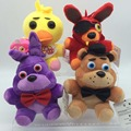4pcs/set 15cm FNaF Plush Five Nights At freddys Bear Fox Rabbit Stuffed Animals figure toy