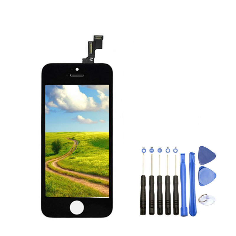 Onecell New LCD Display Touch Screen Digitizer Assembly With Opening Tool For Iphone 5S