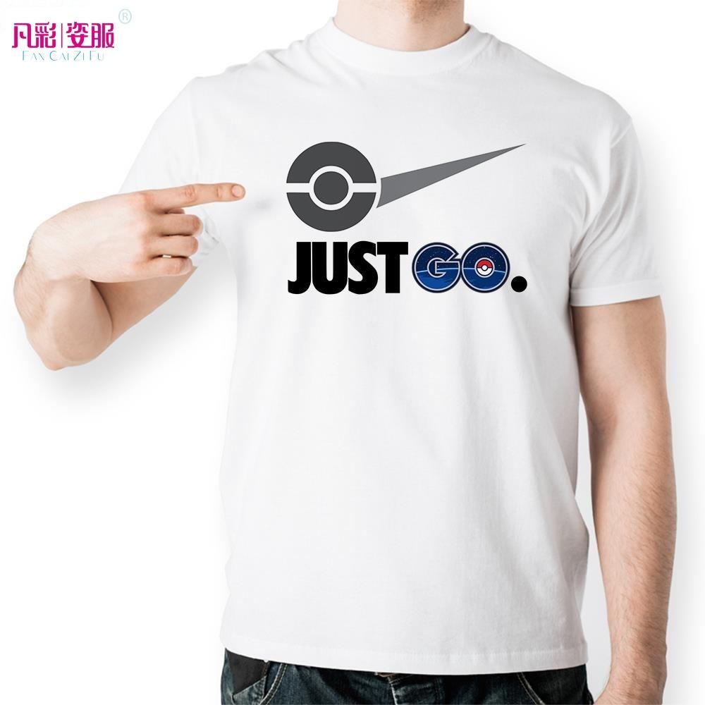Design t shirts logo - Just Pokemon Go T Shirt Parody Famous Logo Funny Design T Shirt Unisex Printed Top