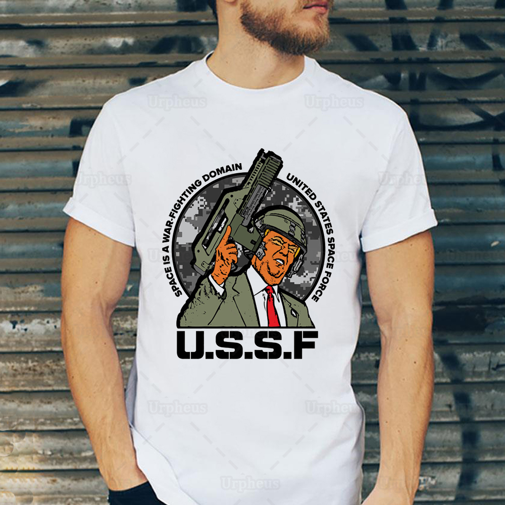 US Space Force Tshirt Trump Covfefe Meme Space Force Shirt Top Tees image