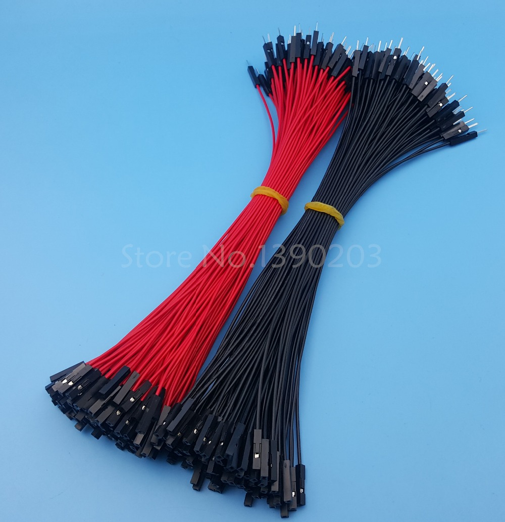 200Pcs Male To Female Red Black 26AWG 20CM Dupont Wire Cable ...