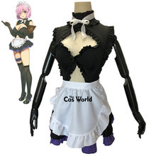 Fate Grand Order Mash Kyrielight Sexy Tube Tops Maid Schort Dress Uniform Outfit Anime Cosplay Kostuums(China)