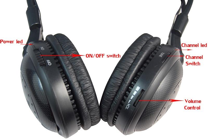 Ultra low bass Silent disco Wireless earphone RF Silent Disco headphone For iPod MP3 DJ music party club 14