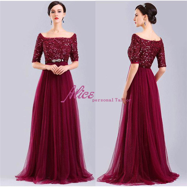 Popular Elegant Burgundy Prom Dresses 2015-Buy Cheap Elegant ...