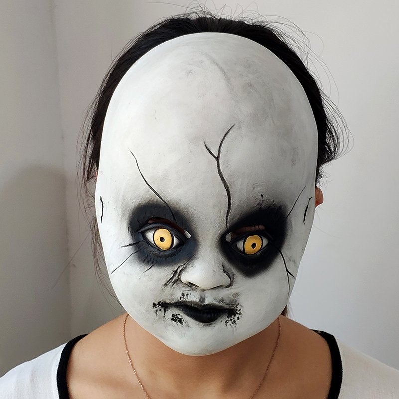 Children's Nun Mask Cosplay Valak Costume Accessories Cute Child Latex Half Face Masks Helemet Halloween Party Props Dropshipping