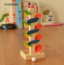 Run Track Ball Game DIY Assembly 3 Rolling Bead Toy Home Unisex Multicolor Tower Scroll Years Older Track Casual Set Tree-Leave(China)