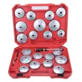 23 Pcs Oil Filter Cap Removal Wrench Cup Socket Set Ratchet Spanner With Case