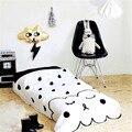 Cobertor do bebê do algodão folha crib bedding set nuvem preto branco jogo mat cunas crianças jogo de cama colchas de cama cobertor bebek yatak