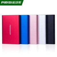PIRISI 2.5 Shockproof Portable External Hard Drive USB3.0 80GB 120GB 160GB 250GB 320GB 500GB 750G 1TB 2TB Metal Silm 5 Color