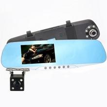 Lo nuevo E-ACE Cámara Del Coche Dvr HD Lleno Azul Espejo Retrovisor Grabador de Vídeo Digital Auto Registrator Videocámara Dash Cam Visión Nocturna