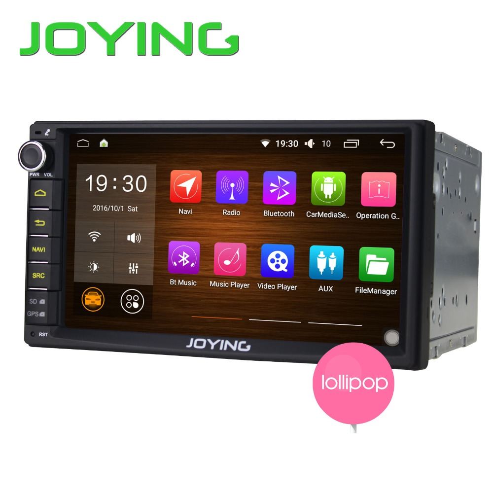 New JOYING Android 5.1.1 Quad Core Universal Car Audio Stereo GPS Navigation Double 2 Din 1024*600 HD Radio Multimedia Player