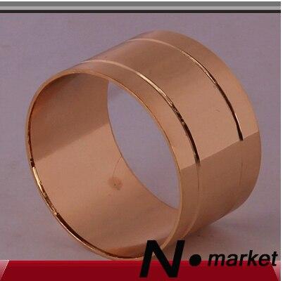 Doprava zdarma Smooth Clean Double Line držáky na ubrousky Gold Silver hliníkové slitiny kulatý kroužek na ubrousky