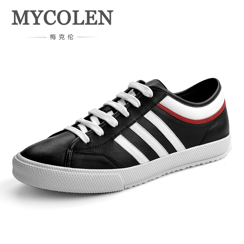 MYCOLEN 2018 Fashion Classic Shoes Men Casual Shoes Comfortable Lace-Up Men Flat Shoes Good Quality Male Breathable Shoes 2017 fashion red black white men new fashion casual flat sneaker shoes leather breathable men lightweight comfortable ee 20