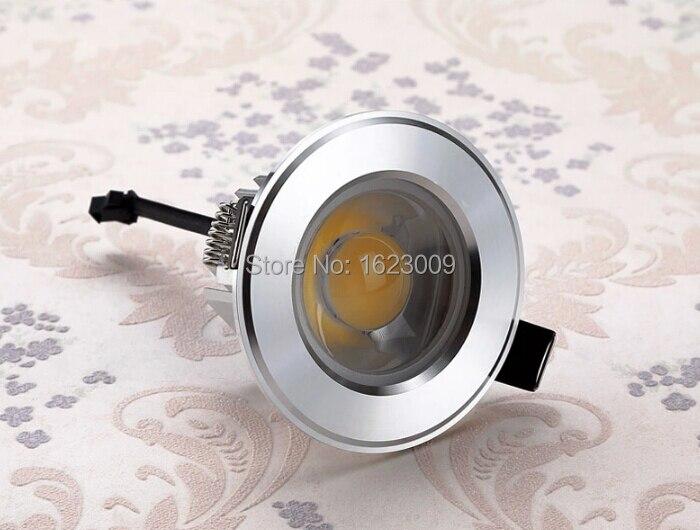 DHL Бесплатная доставка затемнения COB потолочный светильник Встраиваемый светильник 7 Вт/10 Вт вел вниз свет, высокая Яркость удара светильник...