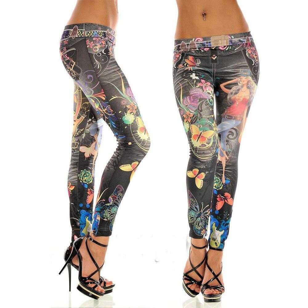HTB1HlzyXEjrK1RkHFNRq6ySvpXaK KANCOOLD jeans Sexy Womens Skinny Blue Jean Denim Stretchy Jeggings Pants fashion Snowflake jeans woman 2018Oct23