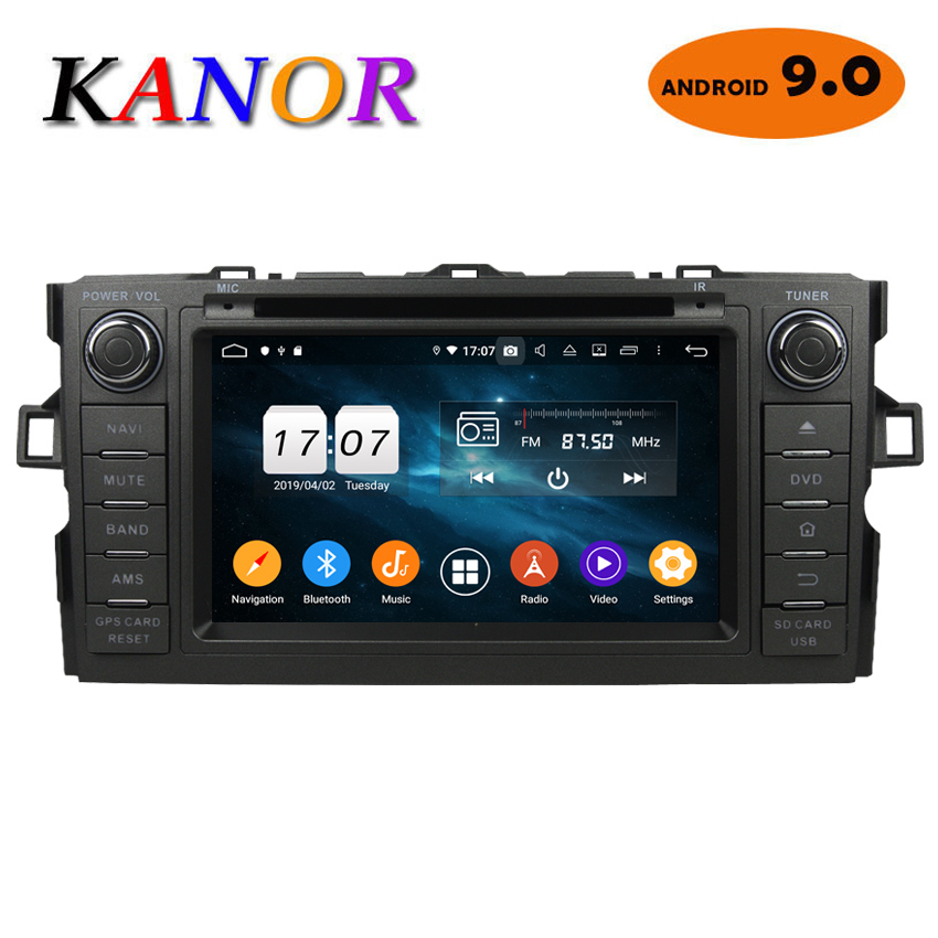 KANOR 4+32G Octa Core Android 9.0 2din car radio For Toyota Auris With GPS Navigation DVD Bluetooth SWC Audio Car MultimediaKANOR 4+32G Octa Core Android 9.0 2din car radio For Toyota Auris With GPS Navigation DVD Bluetooth SWC Audio Car Multimedia