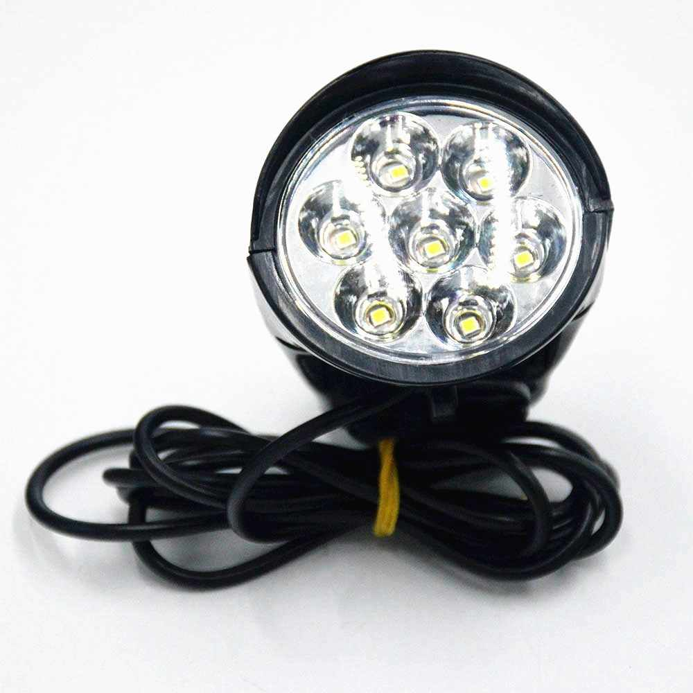 Electrice Bike LED Light 36V 48V Bike Horn Waterproof Flashlight with Horn for Electrice Bike E bike 18W Headlight Front Light