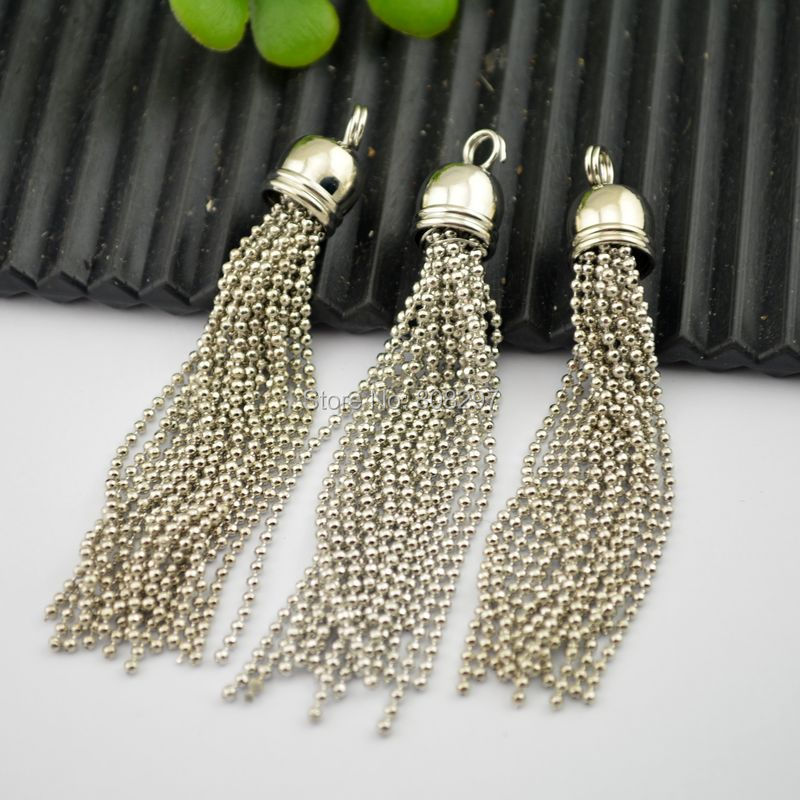 new 15pcs dangling finished chain tassels charm making