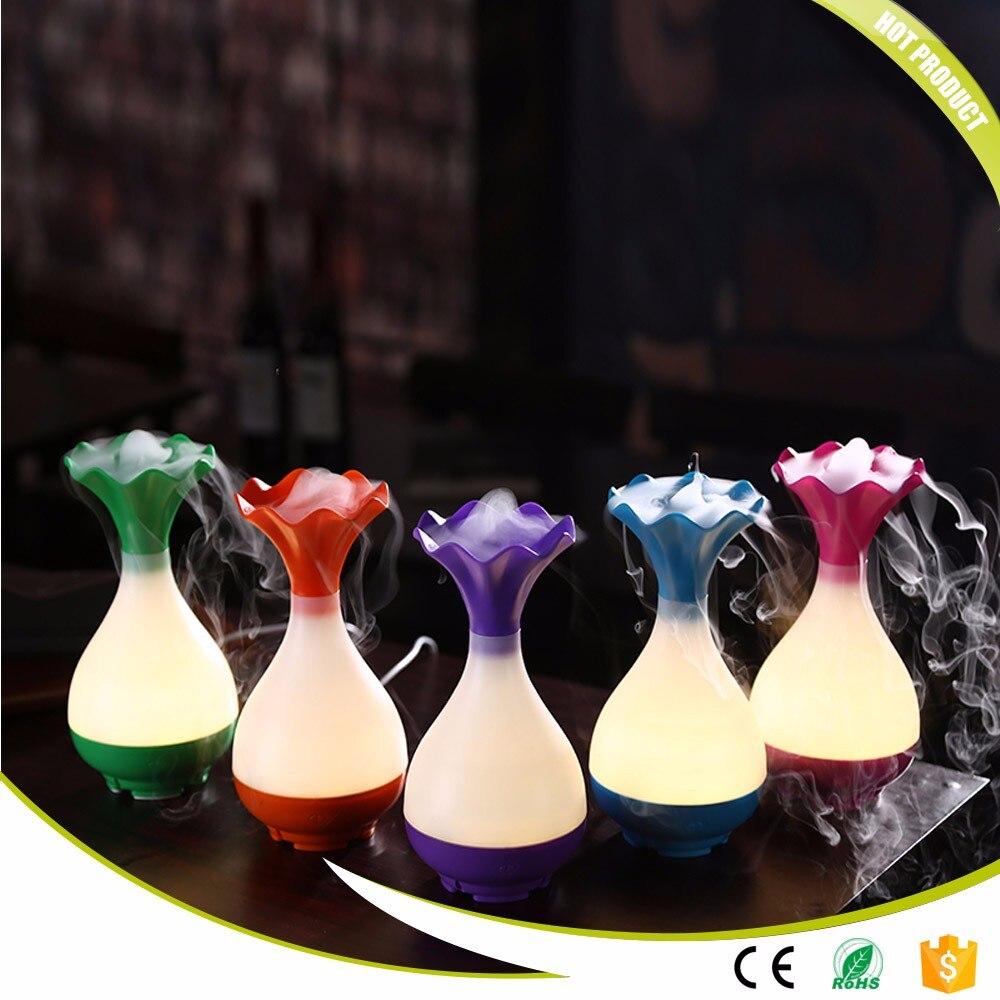 Bottle Shape Ultrasonic Air Humidifier Essential Oil Aromathery Diffuser LED Night Light Mist Maker Fogger