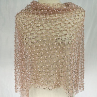 Champagne gold gilding drilling hot point bead gauze cloth fabric fashion sequins Dress Dress Costume