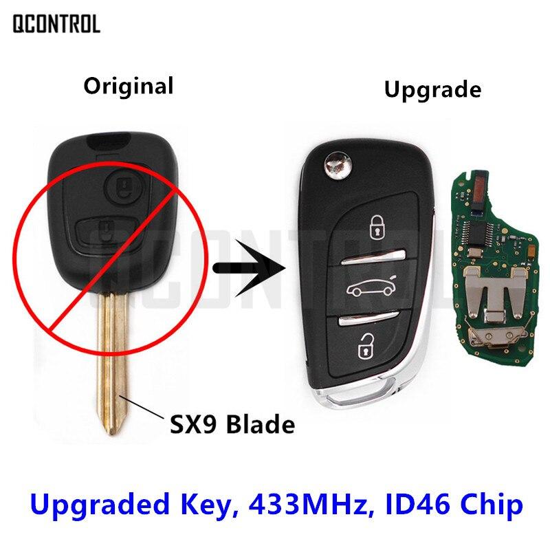 QCONTROL Upgraded Remote Key 2 Buttons for CITROEN Berlingo (2002 - 2008) Flip Key P/N: 6554RH
