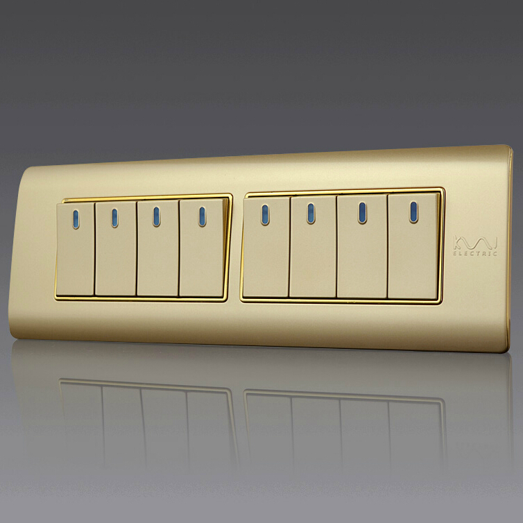 Free Shipping, Kempinski Luxury 8 Gang 2 Way Wall Switch, Light Switch, 197