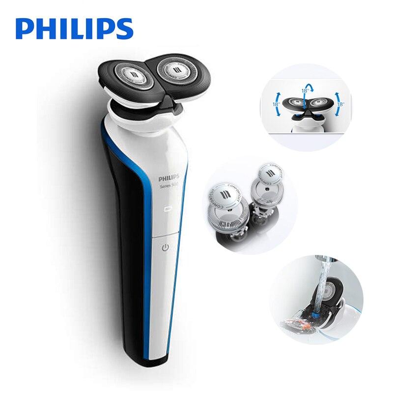 Philips Professionnel Électrique Rasoir S566 Rechargeable 2 les Lames Tournent Électrique Rasoir Visage Barbe Rasoir Électrique Pour Hommes Humide et Sec