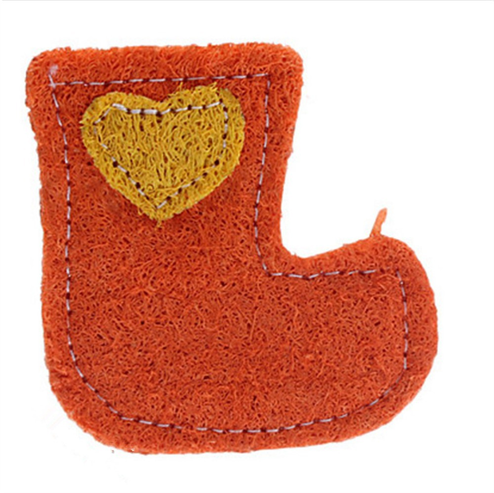 Funny 1piece dog cat toys boots styles pet cat chew toys Natural Environmental Loofah pe ...